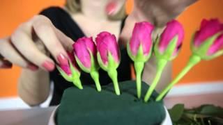 Jak przygotować dekoracje w gąbce florystycznej