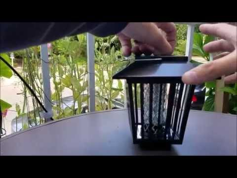 SOLAR POWERED BUG ZAPPER Unbox and review