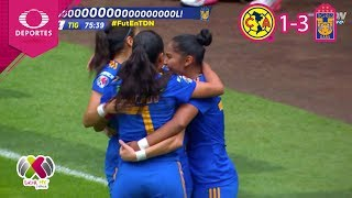 Resumen: América 1 - 3 Tigres | CL 2019 - Semifinal - Liga Mx Femenil | Televisa Deportes