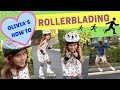 HOW TO BECOME OLYMPIC SKATER - ROLLERBLADING FOR KIDS - STEPS TO INLINE SKATING FUN