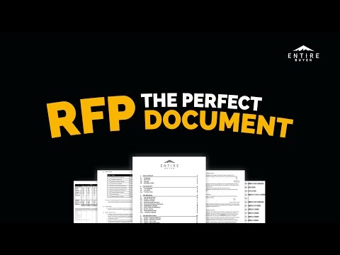RFP Template - How to Write a Request For Proposal Document