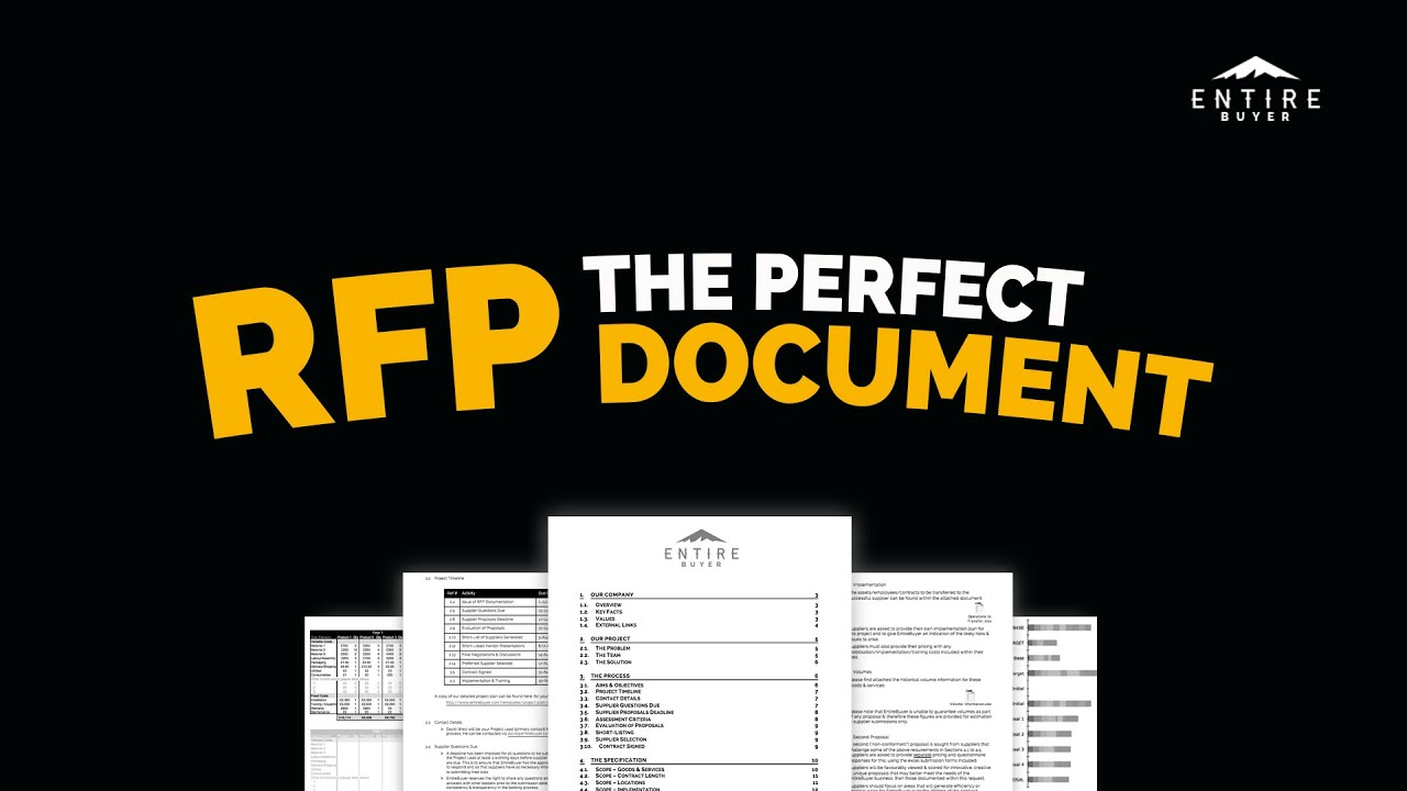 RFP Template How to Write a