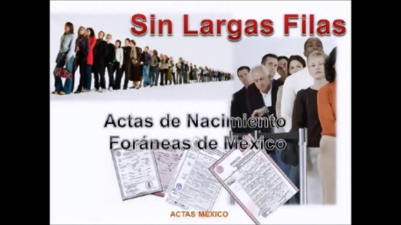 COMO SACAR ACTAS DE NACIMIENTO DEL REGISTRO CIVIL INTERNET - YouTube