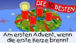 Am ersten Advent, wenn die erste Kerze brennt - Weihnachtslieder zum Mitsingen || Kinderlieder