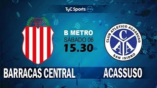 Barracas Central vs Acassuso full match