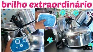 Pasta caseira de brilho extraordinário(alumínio e inox)por casa limpa