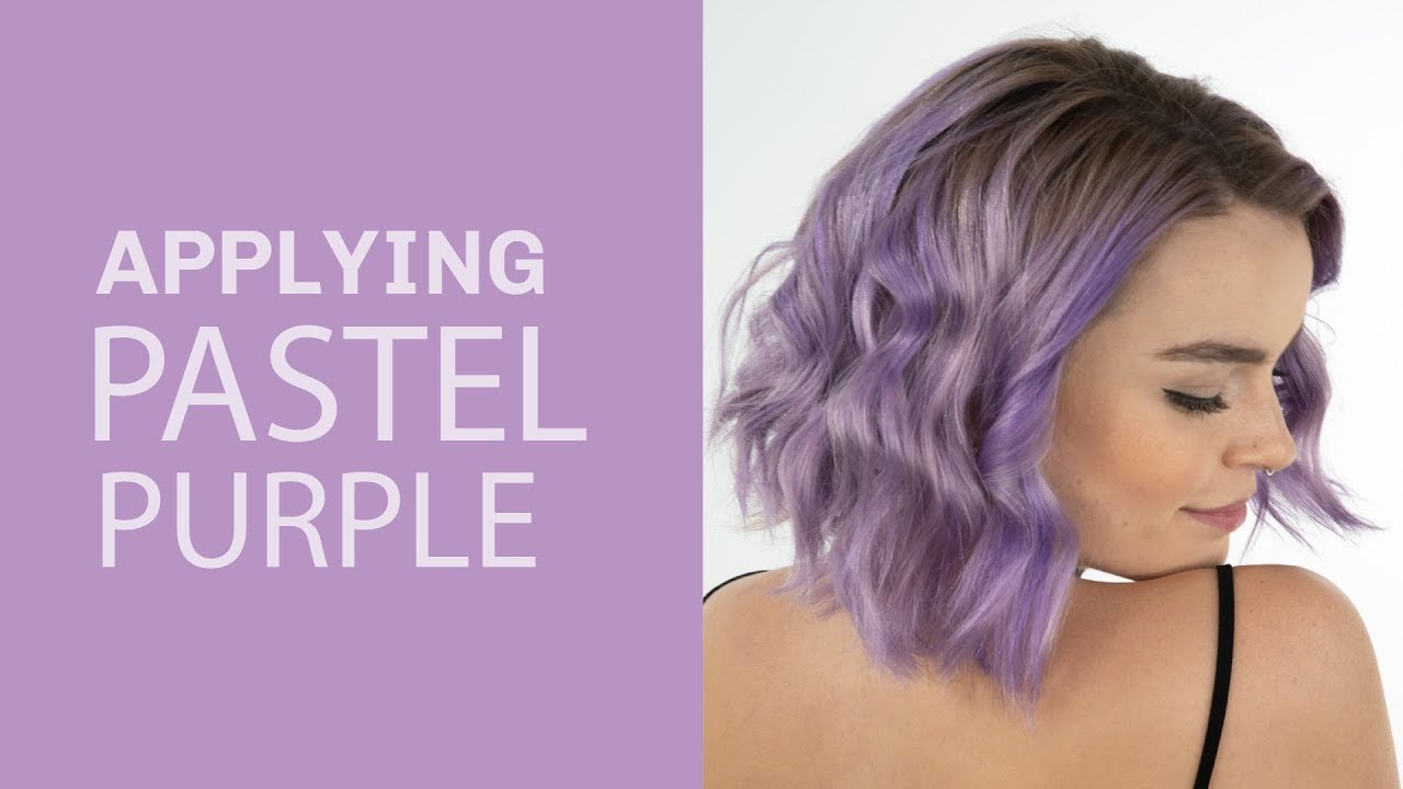 How To Pastel Purple Hair Without Dye Youtube