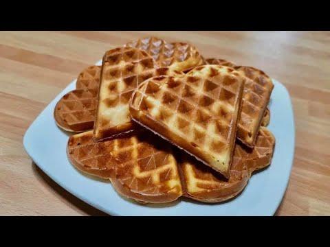 Ricetta Waffle Dolci Giallo Zafferano.Waffle Senza Burro Youtube