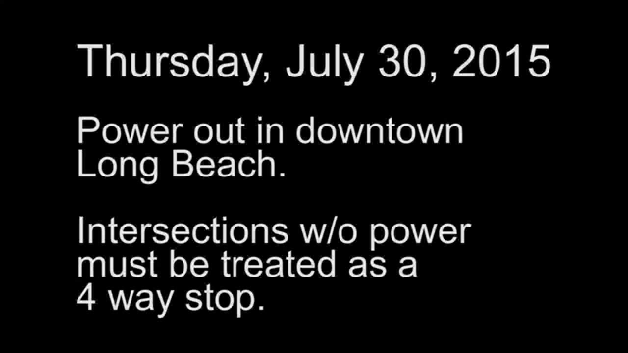 Long Beach Power Outage Twitter