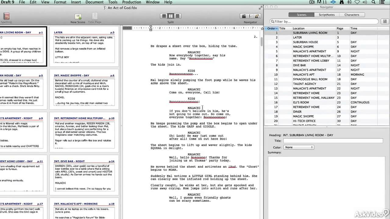 Final Draft 101: Introduction to Screenwriting - 1. Why Use ...