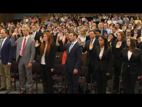 Swearing in the Class of 2020, August 18, 2017