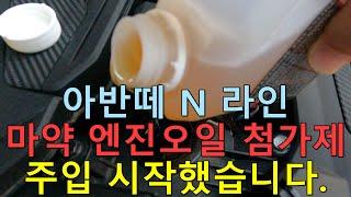 아반떼 N 라인 마약(엔진오일 첨가제) 주입 영상
