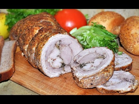 Как сделать рулет из свиной брюшины в духовке