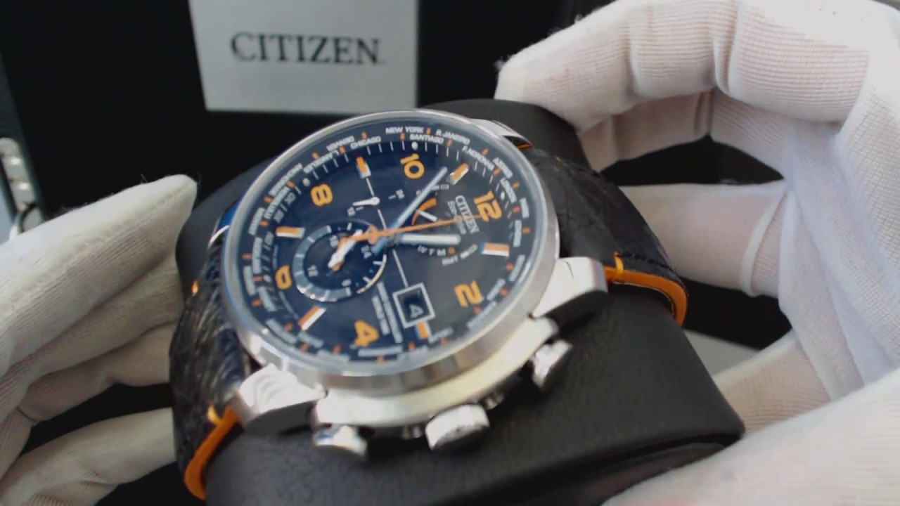 42f9e2930 Men's Citizen Eco Drive Limited Edition World Time A T Atomic Watch AT9010  28F - YouTube