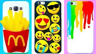 6 DIY PHONE CASES | Easy & Cute Phone Projects & iPhone Hacks