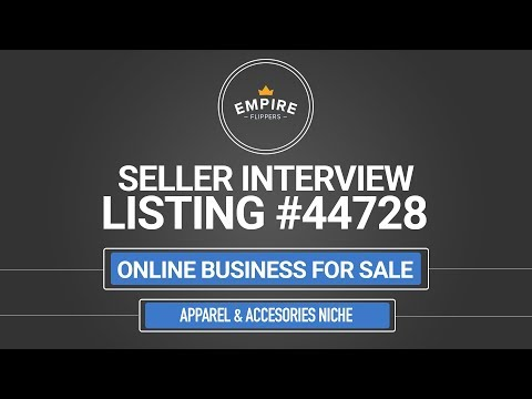 Online Business For Sale – $5.5K/month in the Apparel & Accessories Niche