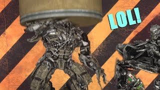 Megatron Crushed by Hydraulic Press (Transformers Hydraulic | SFM Transformers Animation)
