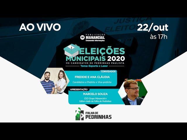 ESPORTE E LAZER |  Freddie e Ana Cláudia | Eleições Municipais 2020 | Pedrinhas Paulista