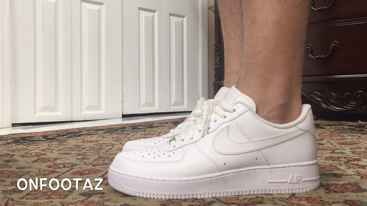 nike air force 1 low white on foot youtube
