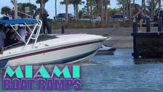 Boat in Reverse vs Man on Dock | Miami Boat Ramps | 79th