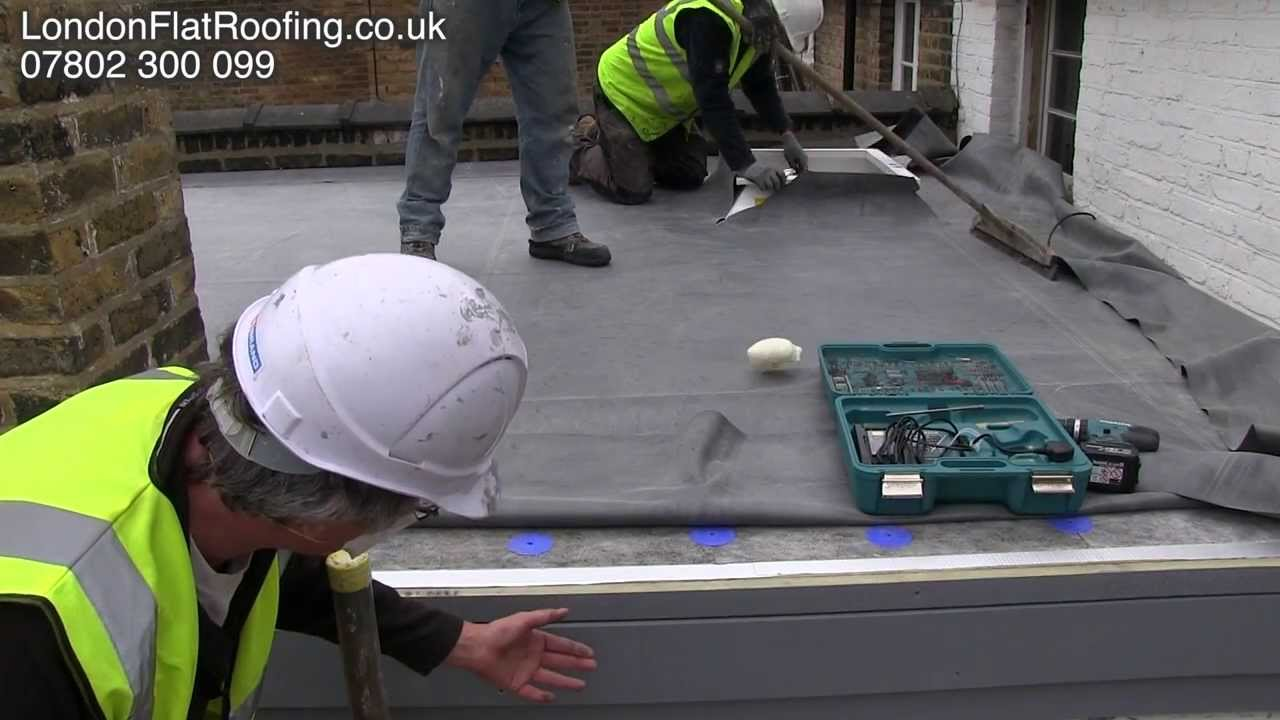 Epdm Rubber Roof Over New Insulation New Warm Roof Youtube