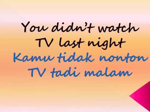 Learn Indonesian about Past Tense / Belajar Bahasa Indonesia tentang Past Tense (Waktu Lampau)