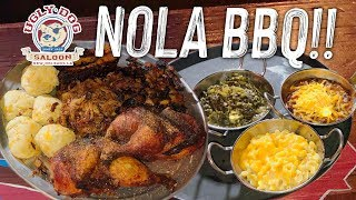 New Orleans BBQ Challenge w/ Ribs, Chicken, Burnt Ends, & Cheddar Biscuits!!
