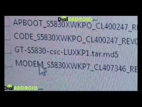 Install Android 2.3.3 Gingerbread On Samsung Galaxy ACE S5830LUXKP1 Firmware