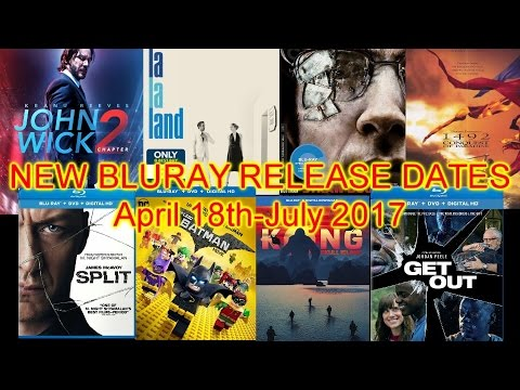 Bluray Release Dates April-July 2017