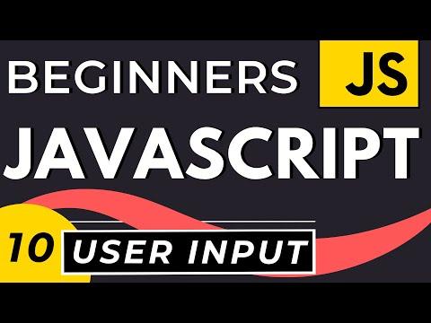 User Input in JavaScript | Tutorial for Beginners