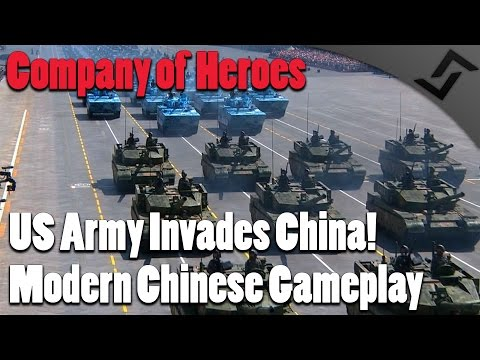 Company of Heroes - Modern Combat Mod - Modern Chinese Army vs US Invasion Force