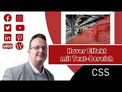 Wie Erstellt Man Einen Mouse Hover Effekt Mit Text Bereich (Nur CSS Und HTML) [Anleitung / Tutorial]