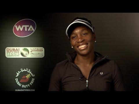Venus Williams 2014 Dubai Duty Free Tennis Championships QF Interview