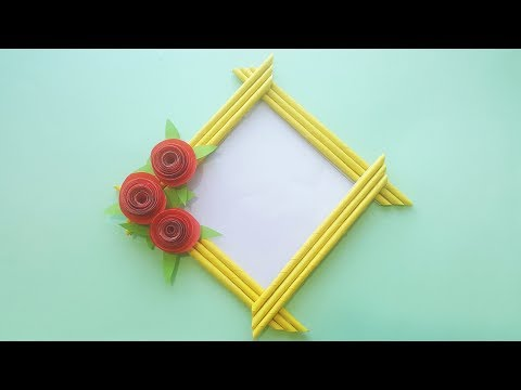 How To Make Photo Frame At Home, Handmade Photo Frame, Diy Photo Frame.