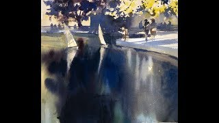 "Advancing with Watercolor: Working on Location - NYC ""Reflections on the Pond"""