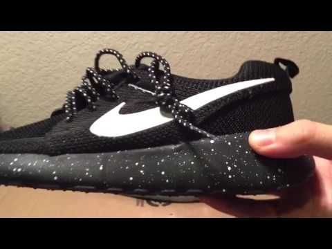 ohkwwc Nike Roshe Run Black Speckled Review Unboxing - YouTube