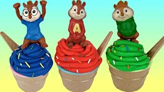 Alvin and the Chipmunks Playdoh Ice Cream Toy Surprises with Theodore & Simon
