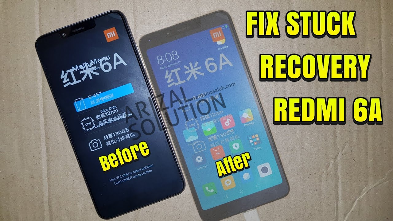 Xiaomi Redmi 6A Cactus Stuck Bootloop Mi-Recovery (Flashing / Full Rom  Install Via Miflash)