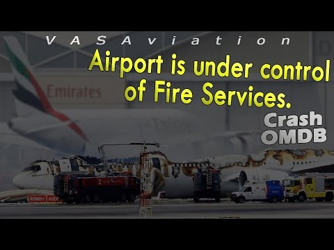 [REAL ATC] Emirates B777 CRASH then BURNT at Dubai OMDB!