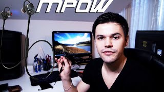 mpow magneto wearable bluetooth 4 1 sports headphones