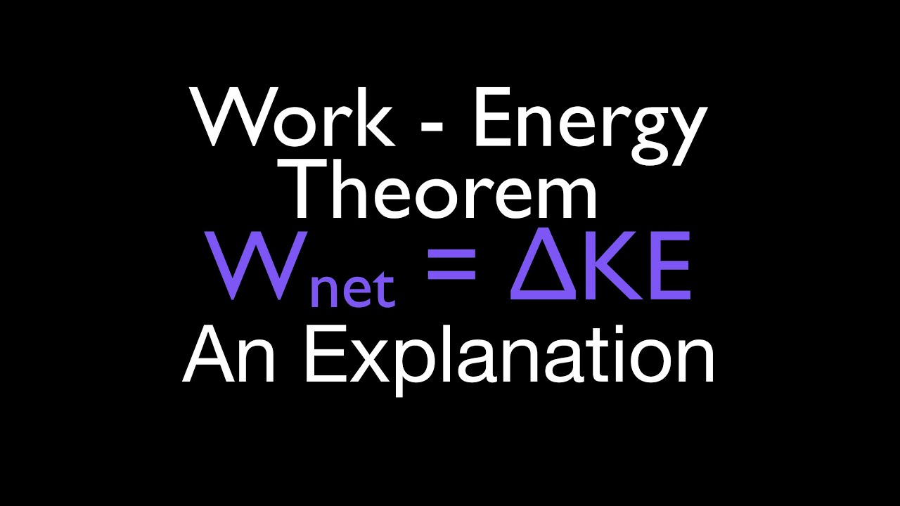 Energy, Work & Power (16 of 31) Work Energy Principle, An Explanation