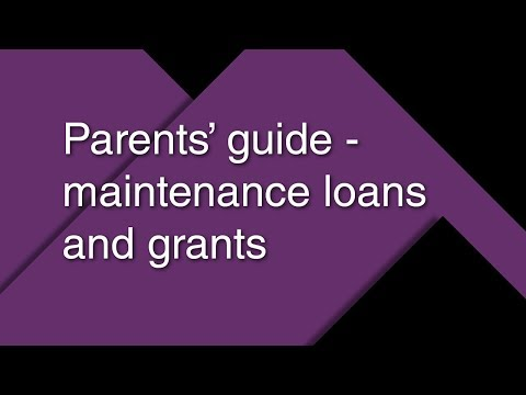 Parents' guide – maintenance loans and grants 2018/19