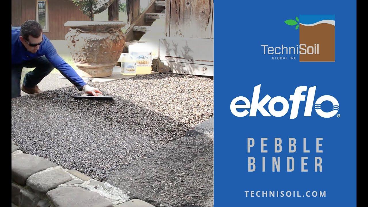 EkoFlo Product Demo | Permeable pebble backyard patio landing area