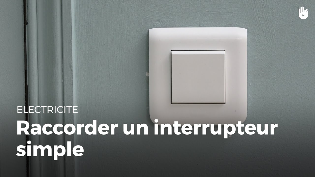 Comment raccorder un interrupteur simple lectricit youtube - Comment brancher un interrupteur ...