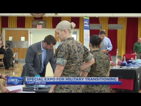 Marines learn about education opportunities at expo aboard Camp Lejeune