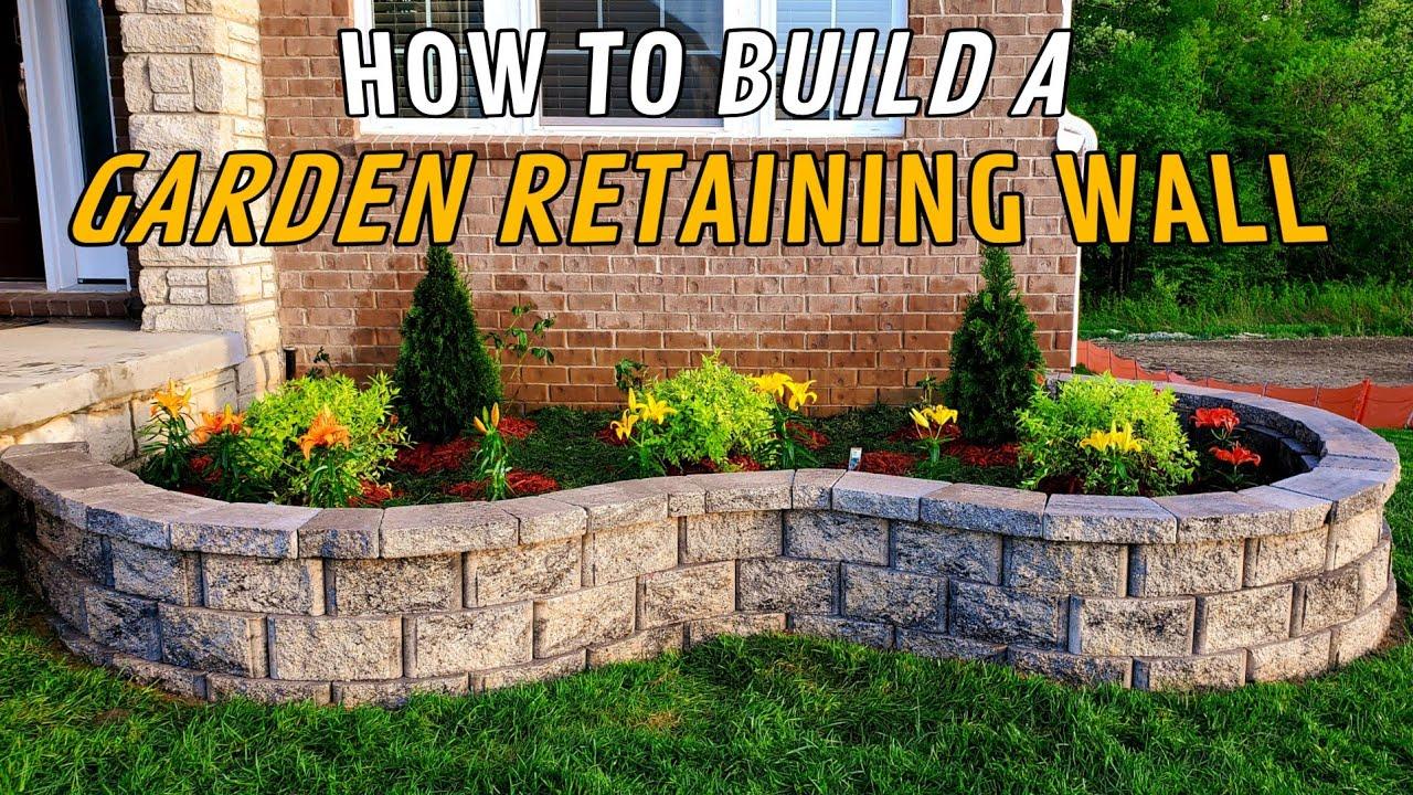 Garden Retaining Wall DIY
