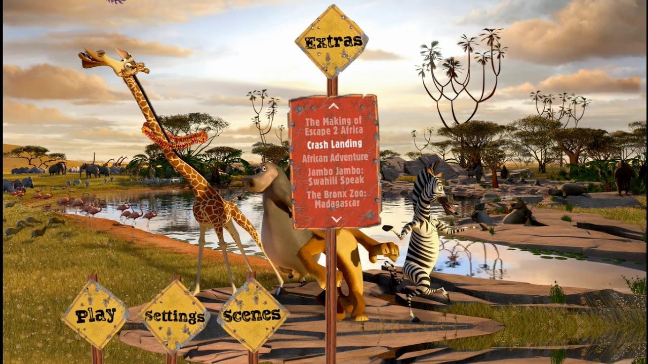 Download Madagascar Escape 2 Africa 2009 (2018 Repaint) Blu-ray Menu Walkthrough (HD Capture)