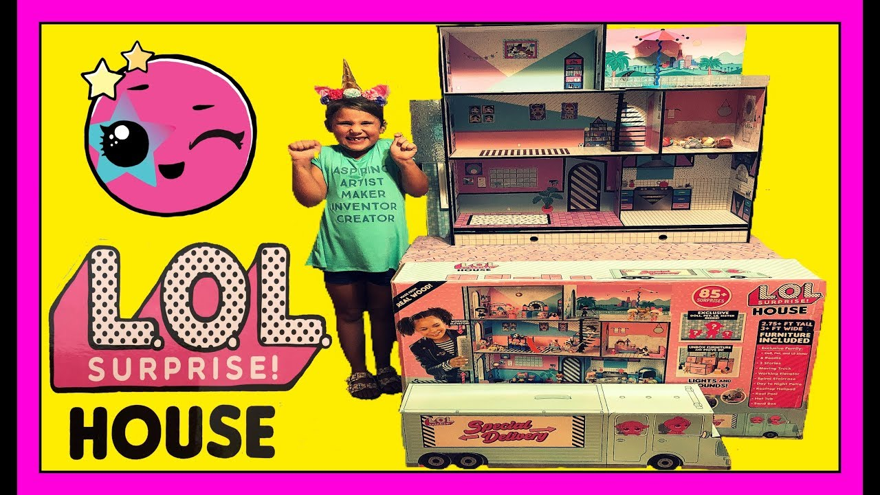 New Lol Surprise Doll House Unboxing Exclusive Big Sister Lil Sister Pet Youtube