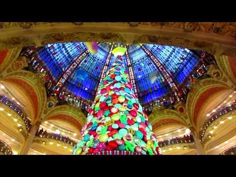 A Walk Down Boulevard Haussmann On Christmas Eve, Paris