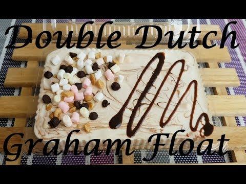 Double Dutch Graham Float | Double dutch float | Ice box cake | Graham Float | No bake dessert